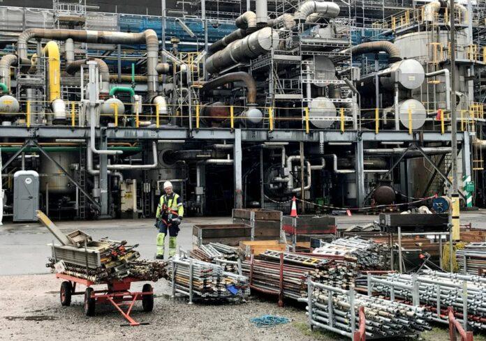 Yara ammonia plant in Porsgrunn, Norway REUTERS/Lefteris Karagiannopoulos